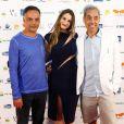Angelo Antonio com a atriz Michelle Castro e o diretor Eder Santos