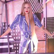 Look sustentável: Luísa Sonza usa conjunto jeans feito de garrafa pet em evento