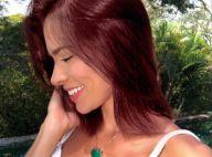 Adriana Sant'Anna volta a mudar visual e exibe cabelo vermelho: 'Cor mais linda'