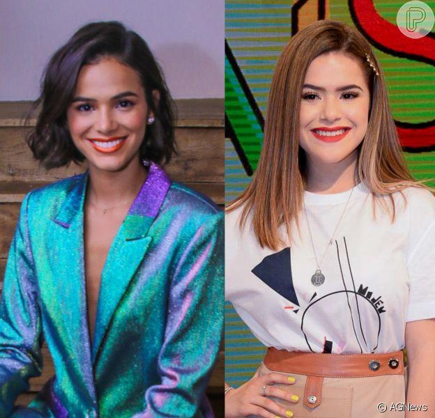 Bruna Marquezine se convida para programa de Maisa Silva no SBT: 'Me chama'