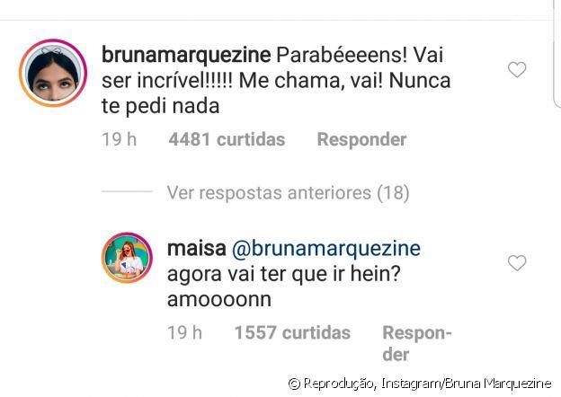 Maisa responde pedido de Bruna Marquezine sobre atração do SBT