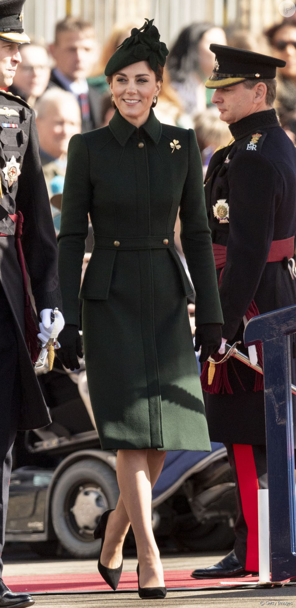 Kate Middleton usou trech coat McQueen no St. Patrick's Day