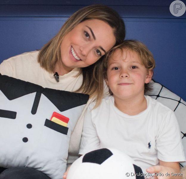 Grávida, Carol Dantas nota filho, Davi Lucca, mais cuidadoso com ela, como contou em vídeo no Instagram Stories nesta terça-feira, dia 19 de março de 2019