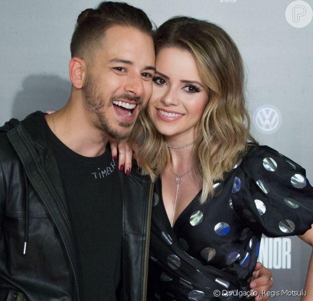 Sandy e Junior cantam juntos após anúncio de turnê ao gravar 'Caldeirão' nesta quarta-feira, dia 20 de março de 2019