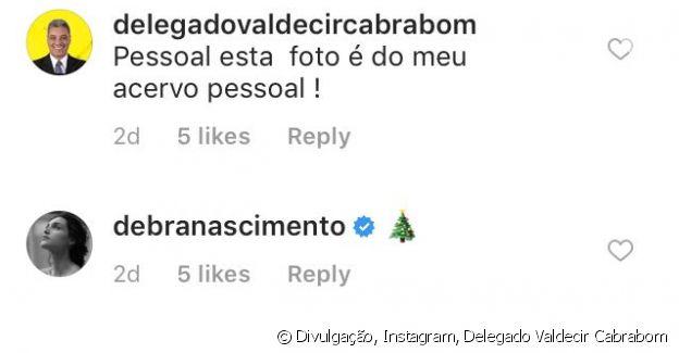 Pai de Débora Nascimento garantiu que a foto pertencia ao seu acervo pessoal