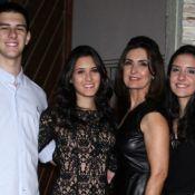 'Quando saírem de casa, sentirei um apertão', diz Fátima Bernardes sobre filhos