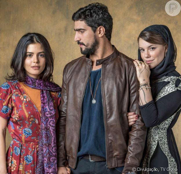 Dalila (Alice Wegmann) fica sabendo que Jamil (Renato Góes) está no Brasil com outra mulher na novela 'Órfãos da Terra'
