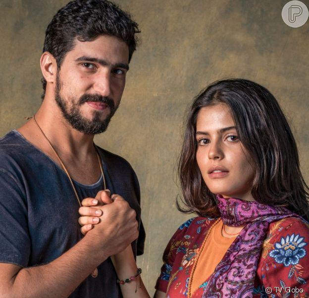 Laila (Julia Dalavia) terminará relação com Jamil (Renato Góes) após descobrir que ele é capanga de Aziz (Herson Capri) na novela 'Órfãos da Terra'