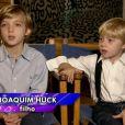 Angélica e Luciano Huck são pais de Joaquim, de 9 anos, e Benício, de 7