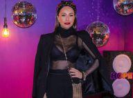 Sabrina Sato deixa lingerie à mostra em look com destaque para headband chic