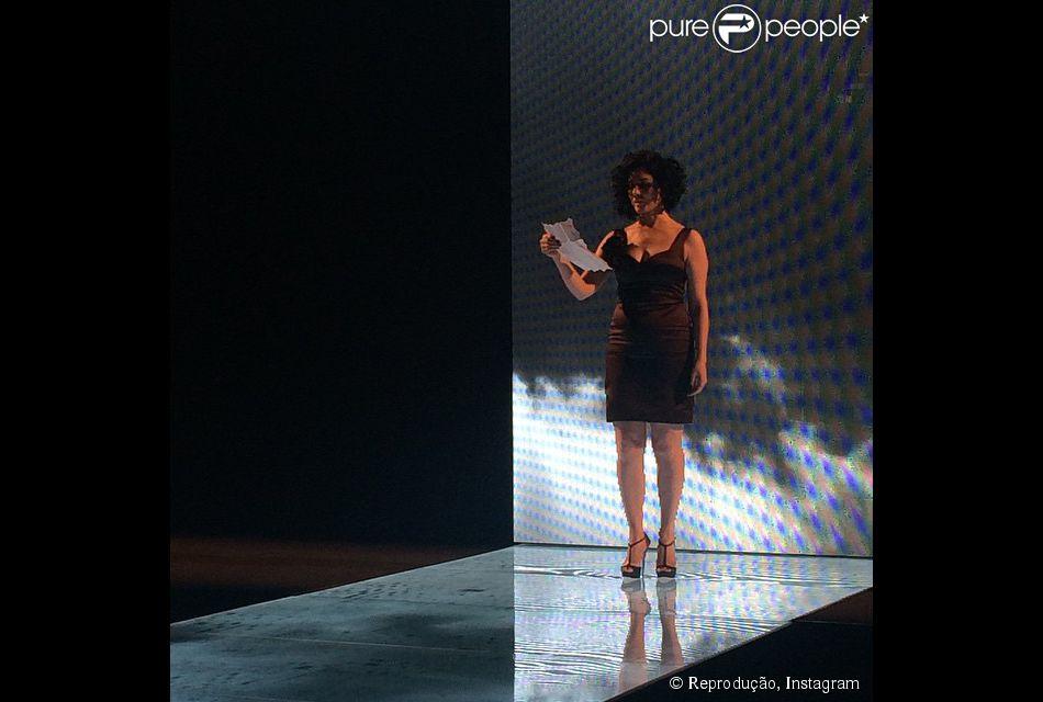 Letícia Sabatella participa da abertura do evento de moda Minas Trend, em Minas Gerais, em 6 de outubro de 2014