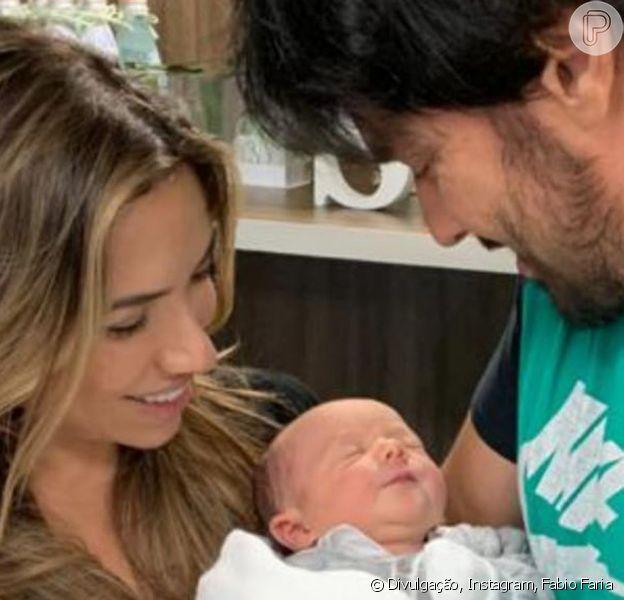 Patricia Abravanel e Fábio Faria celebram o nascimento do filho caçula