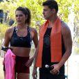 Cauã Reymond e Mariana Goldfarb treinaram juntos no feriado desta sexta-feira (19)