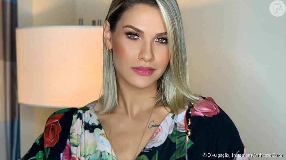 Andressa Suita usa look grifado de R$ 14 mil e dança com Gusttavo Lima em show na noite de segunda-feira, dia 22 de abril de 2019