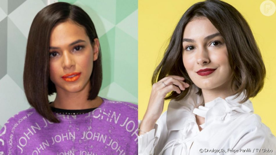 Marina Moschen publicou um clique na praia neste domingo, 28 de abril de 2019, e foi comparada a Bruna Marquezine por internautas