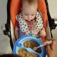 Sempre que pode, a própria apresentadora do 'Programa da Tarde' prepara as papinhas de legumes consumidas pelo filho