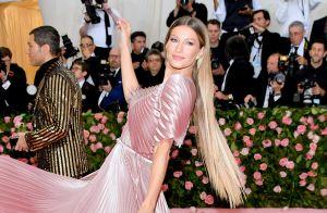 Vestido sustentável e mega-hair: o look de Gisele Bündchen no Met Gala 2019