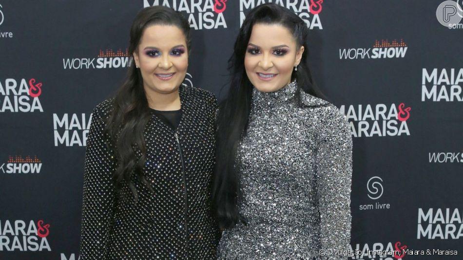 Maiara e Maraisa levam tombo no palco durante show