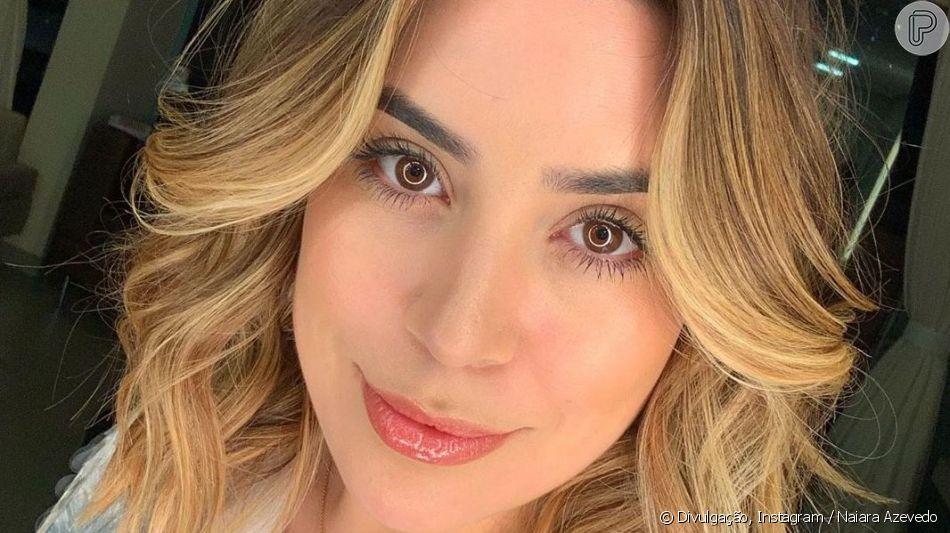 Naiara Azevedo adotou cabelo mais loiro e exibiu resultado na web nesta quinta-feira, 9 de maio de 2019