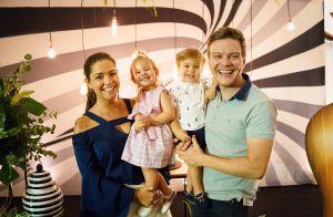 Thais Fersoza posa com filhos, Melinda e Teodoro, e encanta web: 'Cópias do pai'