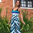 Ticiane Pinheiro apostou em mix de estampas durante a gravidez