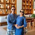 Ticiane Pinheiro não deixou de lado seu lado fashion durante a gravidez de Manuela, sua primeira filha com Cesar Tralli