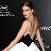 Marina Ruy Barbosa aparece deslumbrante com vestido preto e branco em Cannes