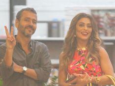 Marcos Palmeira diverte Ju Paes ao brincar com fotógrafo em gravação de novela