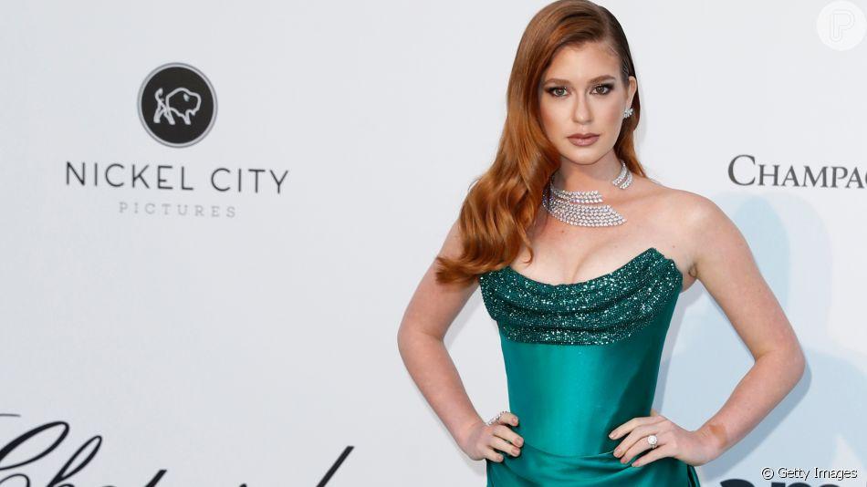 Marina Ruy Barbosa brilha com decote poderoso em Cannes nesta quinta-feira, dia 23 de maio de 2019