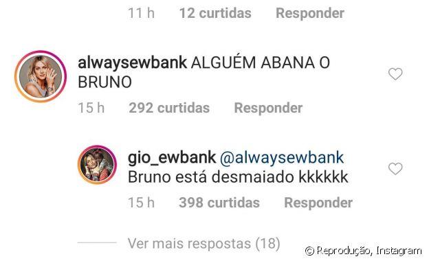 Giovanna Ewbank brinca sobre reação de Bruno em foto de topless