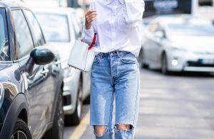 Mom jeans: dicas sobre como usar a calça que foi trend nos anos 90. Fotos!