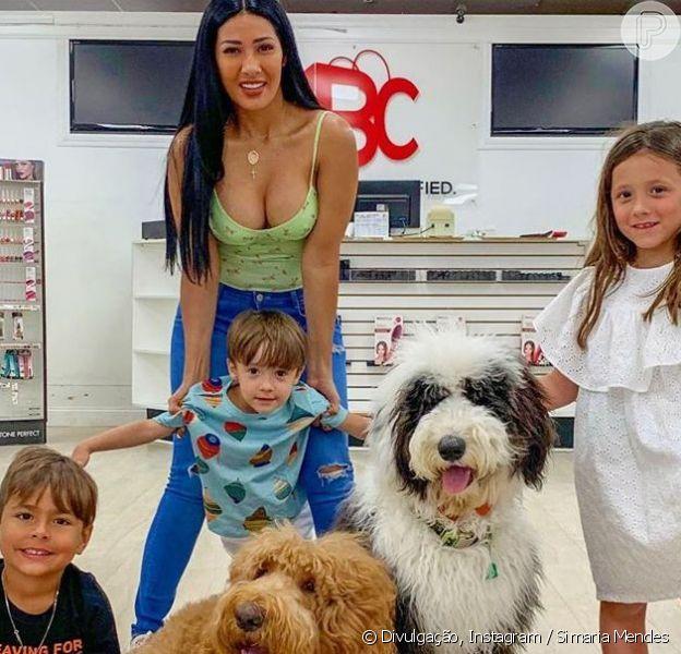 Dupla de Simone, Simaria postou fotos com filhos e sobrinho no Instagram nesta quarta-feira, 5 de junho de 2019