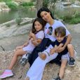 Após segunda turnê internacional, Simaria curtiu a companhia dos filhos