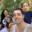 Simaria embarcou com marido, Vicente, e os filhos, Giovanna e Pawel, para Espanha