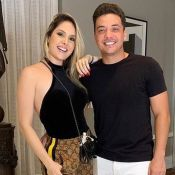 Thyane Dantas usa look do marido, Wesley Safadão: 'Invadi o closet'. Foto!