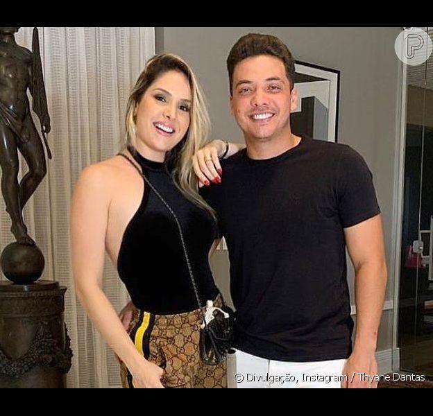 Thyane Dantas escolheu roupa grifada de Wesley Safadão para show do cantor e postou foto do look no Instagram nesta sexta-feira, 7 de junho de 2019