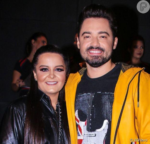 Maiara rebolou e mandou beijo para o namorado, Fernando Zor, durante show em Goiás, na madrugada deste sábado, 8 de junho de 2019