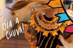 Mamãe coruja! Angélica mostra Eva vestida para festa junina: 'Caipira linda'