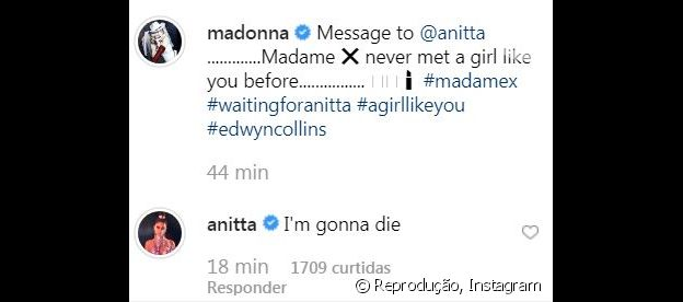 Anitta responde post de Madonna