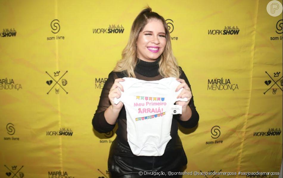 Marilia Mendonça mostra primeira foto de look do filho