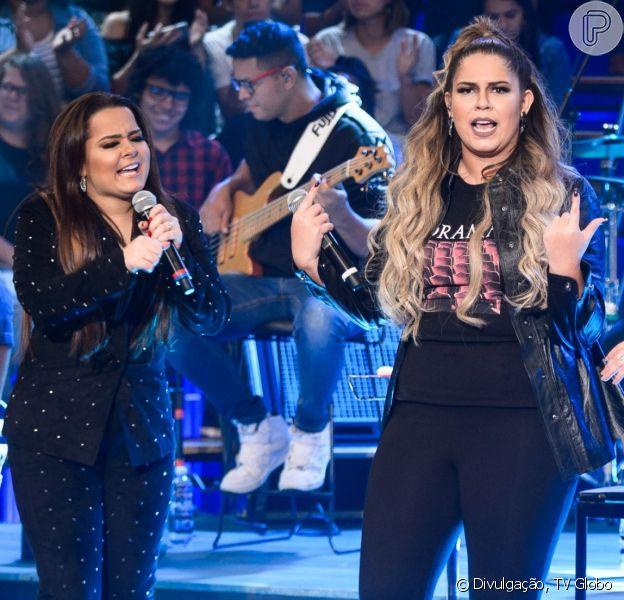 Marilia Mendonça ganhou elogio de Maiara, dupla de Maraisa, em foto na web neste domingo, 30 de junho de 2019