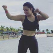 Maraisa mostra barriga sarada em nova foto e Maiara elogia: 'Que tanque'