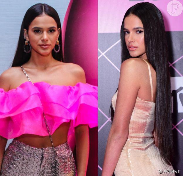 Bruna Marquezine faz piada sobre mudanças de look em prêmio em foto postada nessa quinta-feira, dia 04 de julho de 2019