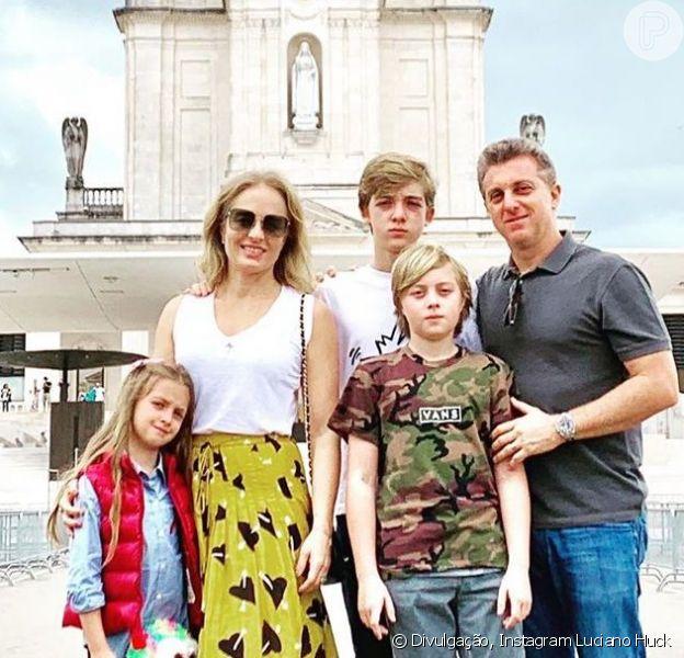 Angelica e Luciano Huck foram neste sábado, 6 de julho de 2019, agradecer pela vida de Benício no Santuário de Fátima, em Portugal