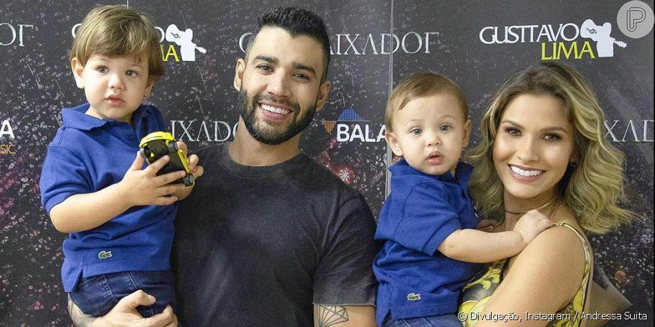 Andressa Suita é surpreendida com nova travessura dos filhos