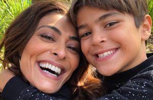 Semelhança de Juliana Paes e o filho Pedro surpreende fãs em foto: 'Cópia'