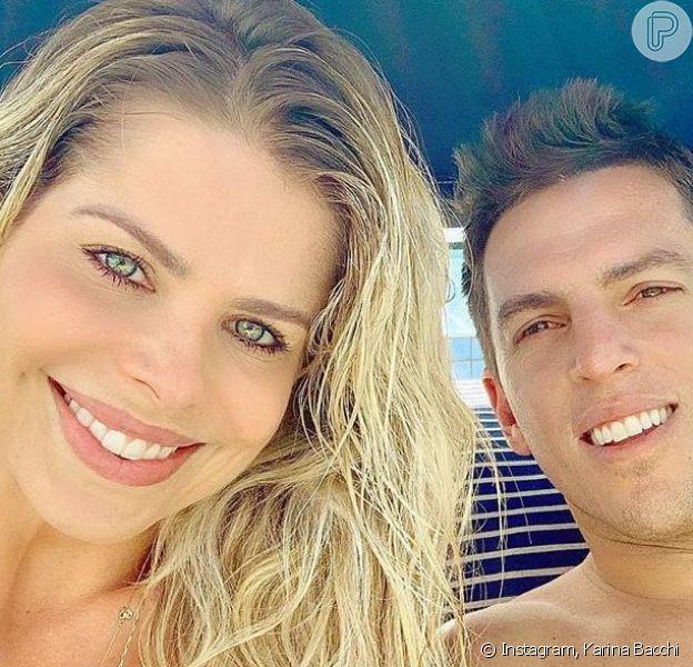 Semelhança entre Karina Bacchi e Amaury Nunes chamou atenção em foto no Instagram