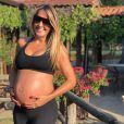 Ticiane Pinheiro deu à luz Manuella, sua filha com Cesar Tralli