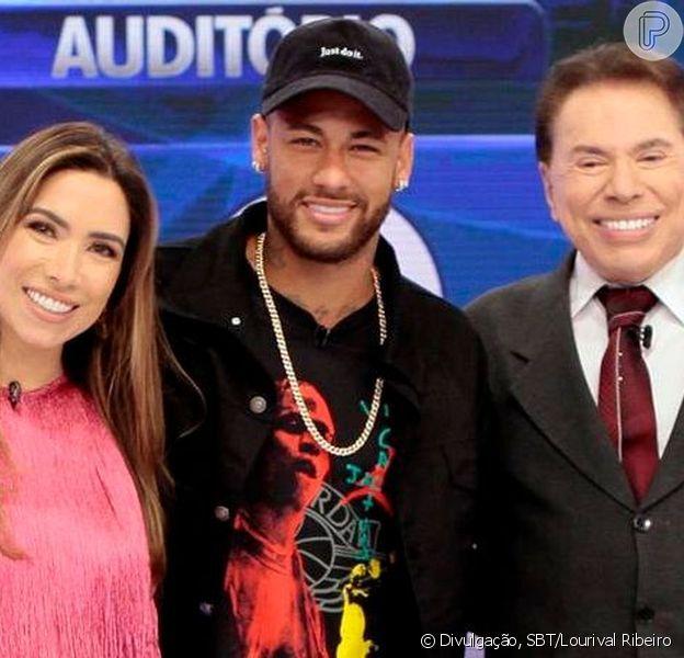 Neymar participou do programa Silvio Santos neste domingo, 21 de julho de 2019, ao lado de Patrícia Abravanel