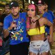 Neymar e Anitta ficaram juntos no Carnaval deste ano, no Rio